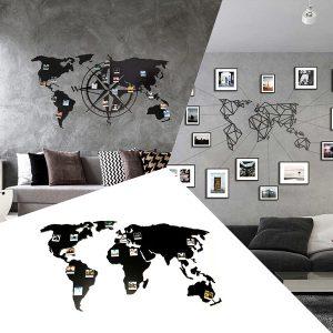 Weltkarte Metall
