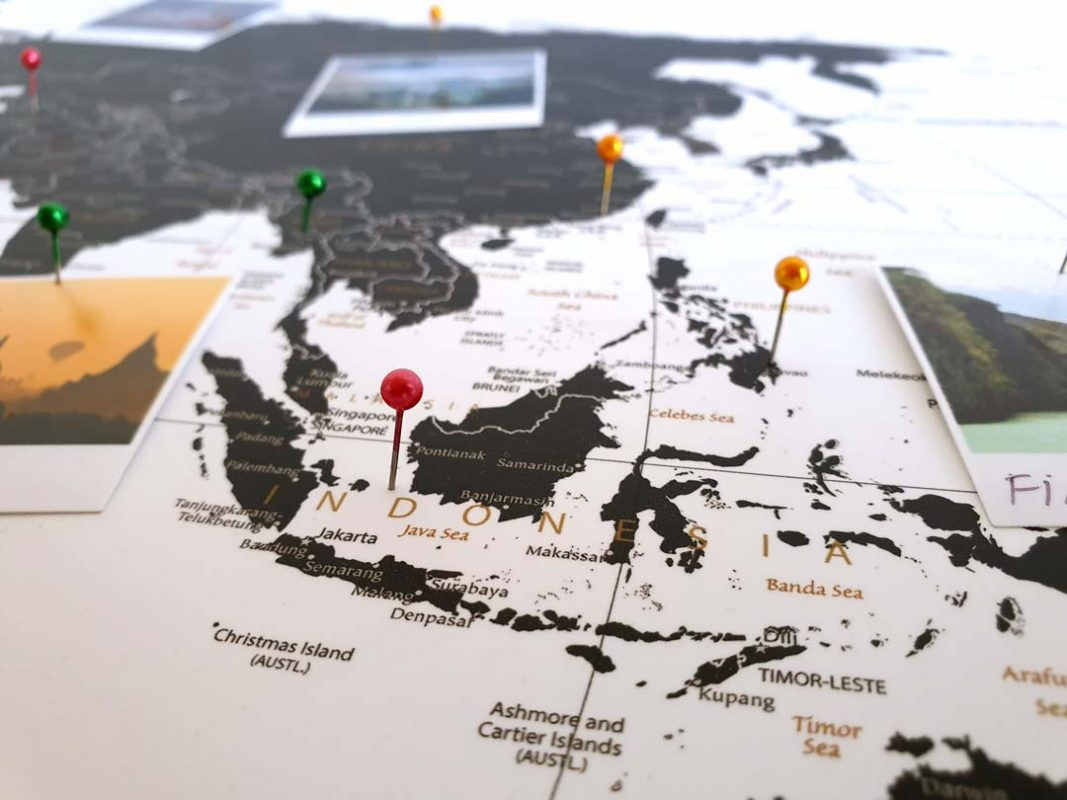 Weltkarte Kork (Pinnwand)
