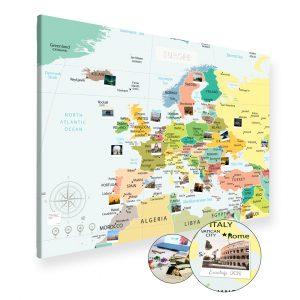 Europakarte Politisch Gross XXL Pinnwand Leinwand