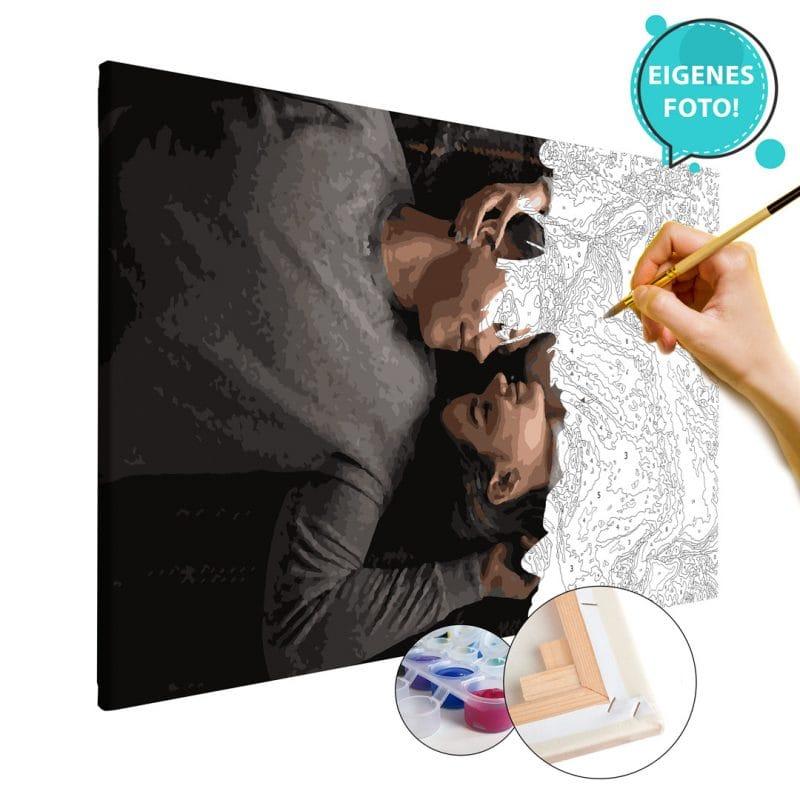 Malen nach Zahlen eigenes Foto Bild Geschenke für Paare