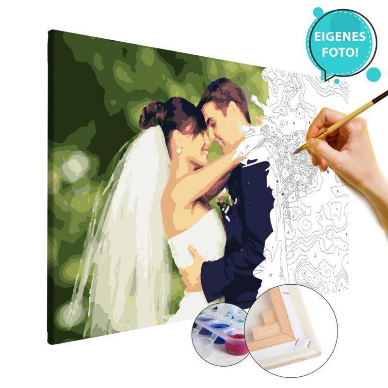 Malen nach Zahlen eigenes Foto Bild Geschenke zum Hochzeitstag