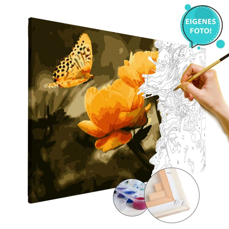 Wandbild Malen nach Zahlen eigene Foto Blumen Wunschmotiv