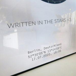Sternenhimmel Poster Persönliche Sternenkarte Schwarz-Weiss Pimavo