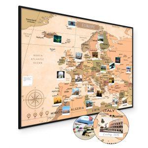 Europakarte Pinnwand