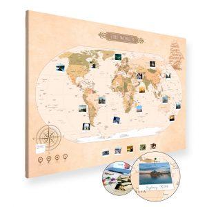 Pinnwand Reisekarten