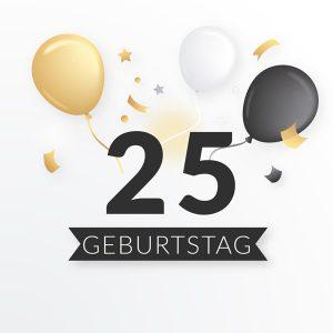 Geschenke zum 25. Geburtstag